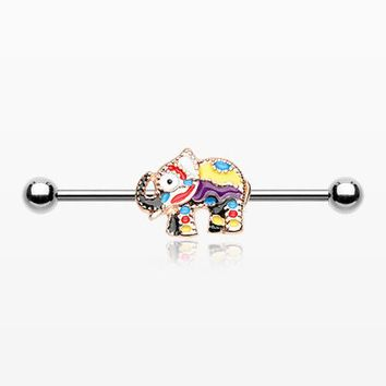 Jaipur Decorative Elephant Parade Industrial Barbell