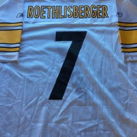 MEN'S BEN ROETHLISBERGER #7 PITTSBURGH STEELERS WHITE REEBOK JERSEY SHIP