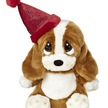 Aurora World Sad Sam Lil Pup Birthday Plush with Hat, 7.5""