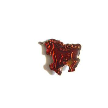FREE SHIPPING! Vintage Red Unicorn Pin Enamel Pin Vintage Pins Retro Pins Biker Pins Lapel Pins Hipster Pins Kawaii Pins