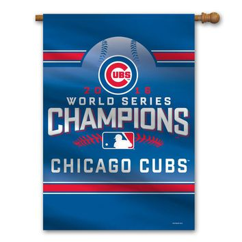 Chicago Cubs Banner Premium 28x40 Wall 2016 World Series Champs