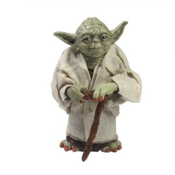 Star Wars Force Episode 1 2 3 4 5 12cm  Jedi Knight Master Yoda PVC Action Figure Collectible Model Toy Doll for Children Christmas Gift AT_72_6