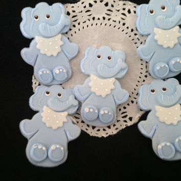 Baby Elephant Decorations, Baby Elephant Shower Favor, Blue Elep