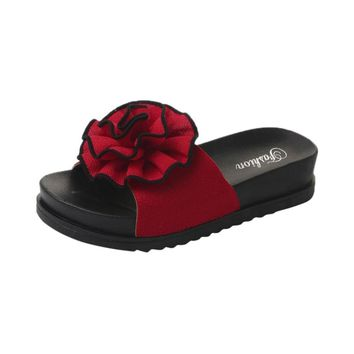 Hunzed Women Sandals, Fashion { Floral Beach Shoes } { Platform Slippers Sandals } Ladies Casual { Wedge Shoes }