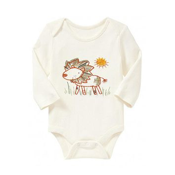 Animal Forest Baby Boy Girl Long Sleeve Cotton Romper One Pieces Cute Clothes Jumpsuits Baby Clothing