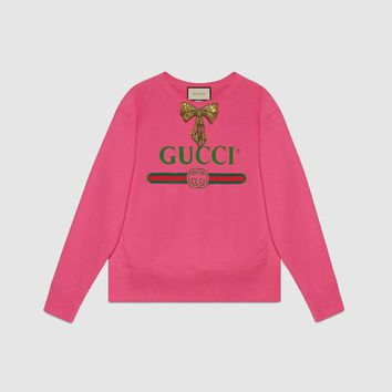 Gucci Logo Sweatshirt With Bow