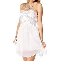 Reed-Ivory/Silver Prom Dress