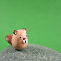 Little Beaver  Hand Sculpted Miniature by MadeWithClayAndLove