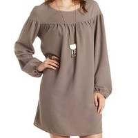 Ruched Yoke Shift Dress by Charlotte Russe