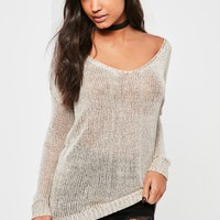 Missguided - Nude Harness Detail Jumper