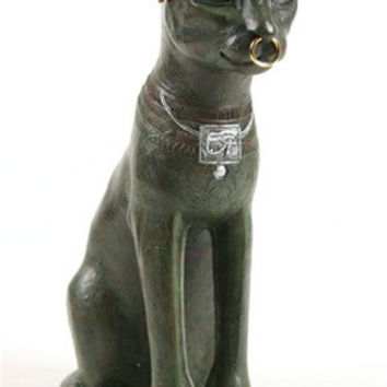 Bastet Egyptian Cat Statue, Gayer-Anderson Replica 10H