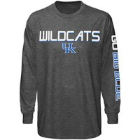 Majestic Kentucky Wildcats Classic Victory Long Sleeve T-Shirt - Charcoal