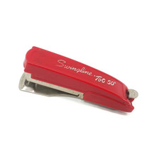 1960's Red Swingline Mini Tot 50 Stapler, Home Office School Supplies, Mid Century, Vintage Office, Made in USA
