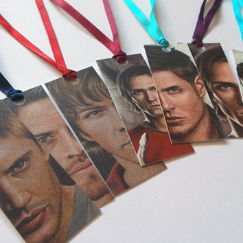 Supernatural bookmarks (Dean, Sam, & Castiel)
