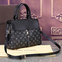 Louis Vuitton LV Fashion New Monogram Check Leather High Quality Shopping Shoulder Bag Women Handbag