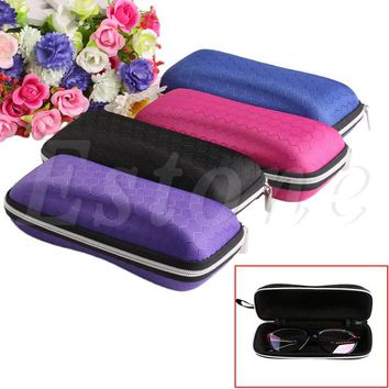 Colorful Cover Sunglasses Case For Women Glasses Box With Lanyard Zipper Eyeglass Cases For Men 4 Colors