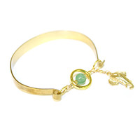 Other Areas Floating Green Elephant Cuff