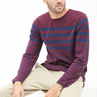Graduating Striped Crew Neck