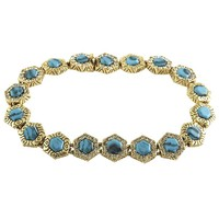 House of Harlow 1960 Jewelry Hexes Tennis Bracelet