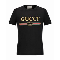 Gucci T-Shirt Top Tee Black White Women Men Shirt