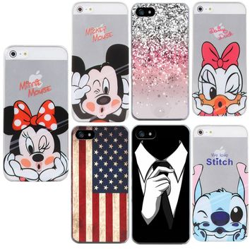 American flag Case For Apple iPhone 5S 5 SE 6 6S 7 plus 8 plus x Phone Shell Funny Stitch Coque Silicone TPU Soft Cover Fundas