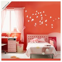 Buy Flying flock of birds vinyl wall stickers - (unweeded and application tape provided) on Shoply.