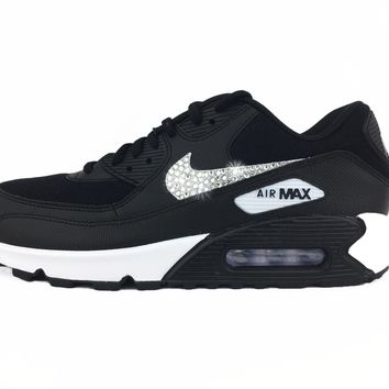 Nike Air Max 90 + Crystals - Black/White
