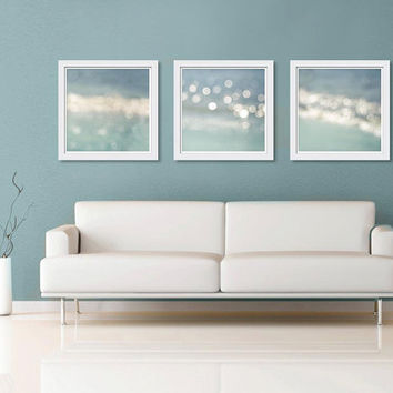 Nautical decor wall art print set 16x16 ocean fine art Photography abstract beach vintage inspired beach ocean photography Project Runway