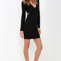 Stand Your Ground Black Long Sleeve Dress