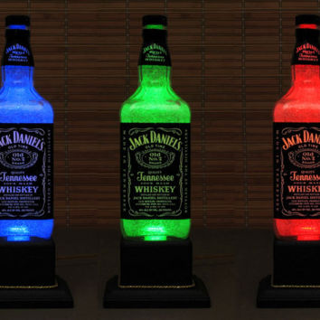 Jack Daniels Whiskey Color Changing Bottle Lamp LED Remote Controlled Eco Friendly rgb LED /Party Light/American Whiskey-Bodacious Bottles-