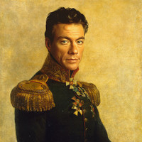 Jean Claude Van Damme - replaceface Art Print by Replaceface