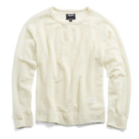 Lightweight Wool Sweater T-Shirt in Ivory