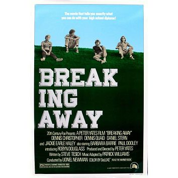 Vintage Breaking Away Movie Poster//Classic Movie Poster/Movie Poster//Poster Reprint//Home Decor//Wall Decor//Vintage Art