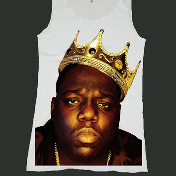 0d4e163650034f THE NOTORIOUS BIG biggie smalls singlet screen print tank top ety187v