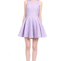 Karly Lace Dress in Lavender: Buy Muehleder at CoutureCandy.com
