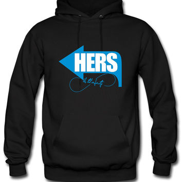 hers - his right side Hoodie