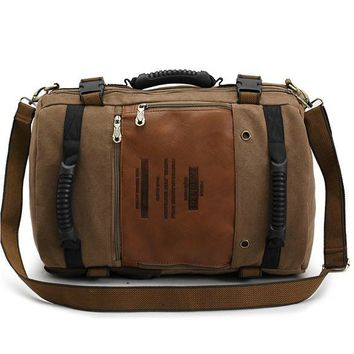 Fashion 2017 Canvas Leather Crossbody Bag Men Military Army Vintage Messenger Bags Shoulder Bag Casual Travel Bags Hot!!!