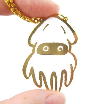 Super Mario Themed Squid Blooper Pendant Necklace | Limited Edition