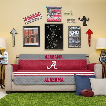 Alabama Crimson Tide Sofa Furniture Protectors With Elastic Straps