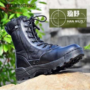 2018 SWAT Boots Outdoor Men's Shoes Tactical Lace-up Boots For Hiking Traveling Climbing Fishing