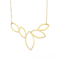 Marquise Cluster Necklace