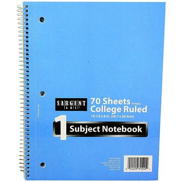 70 Sheet 1 Subject College Ruled Notebook - 48 Units