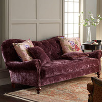 Old Hickory Tannery - Tufted Velvet Sofa - Horchow