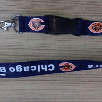 1pc/lot NEW Chicago Bears Neck Strap Lanyard keychain brand NEW for sports teams fans