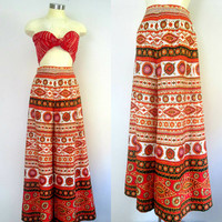 Boho Chic Palazzo Pants Alex Coleman 1960s 1970s Vintage Colorful Runway High Fashion