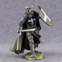 Medieval Knight Toy Figures Teutonic Order Middle Ages 54mm Miniature Tin Soldier 2 1/4 Scale Hand Painted Soldier - Free Shipping