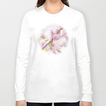 Pink sakura flowers - Japanese cherry blossom Long Sleeve T-shirt by Digital2real