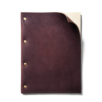 Refillable Brown Leather Notebook (Large)