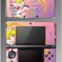 Sailor Moon Jupiter Mars Venus 2 Mercury Video Game Vinyl Decal Skin Cover Protector for Nintendo 3DS