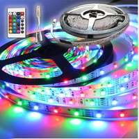 5M 300 LEDs SMD 3528 RGB LED Strip Light + 24 Key Mini Controller 12V (Size: 12V, Color: Multicolor) = 1945728324